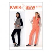 Kwik Sew Ladies Sewing Pattern 4194 Waistcoat, Jacket with Hood & Pull On Pants
