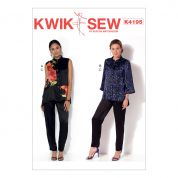 Kwik Sew Ladies Sewing Pattern 4195 Button Down Waistcoat & Jacket & Pull On Pants