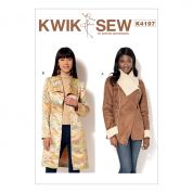 Kwik Sew Ladies Sewing Pattern 4197 Shawl Collar Jacket & Coat