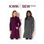 Kwik Sew Ladies Sewing Pattern 4198 Swan Neck Coats