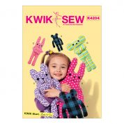 Kwik Sew Crafts Easy Learn to Sew Sewing Pattern 4204 Animal Themed Stuffed Toys