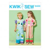 Kwik Sew Toddlers Easy Sewing Pattern 4205 Novelty Overalls