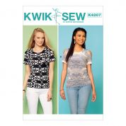 Kwik Sew Ladies Easy Sewing Pattern 4207 Pullover Jersey Knit Tops