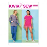 Kwik Sew Ladies Sewing Pattern 4210 Knit Tops, Shorts & Pants