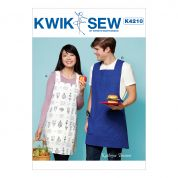 Kwik Sew Ladies & Mens Easy Sewing Pattern 4211 Aprons with Criss Cross Straps