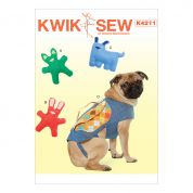 Kwik Sew Pets Easy Sewing Pattern 4211 Dog Toys & Coat with Backpack