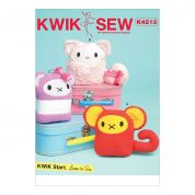 Kwik Sew Crafts Easy Learn to Sew Sewing Pattern 4213 Animal Plush Toys