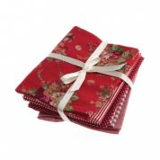 Fat Quarter Fabric Bundle  Red