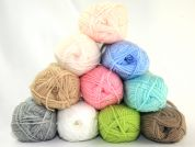 Loweth Crafty Knit Knitting Yarn  DK  Assorted Pastel Colours
