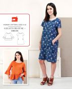 Liesl + Co Sewing Pattern Gelato Blouse & Dress
