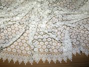Limar Embroidered Guipure Couture Bridal Lace Fabric  Ivory