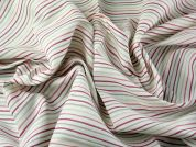 Spanish Stripe Linen & Cotton Blend Dress Fabric  Ivory