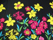 John Kaldor Floral Border Print Cotton Sateen Dress Fabric  Multicoloured