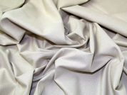 Lady McElroy Lurex Stretch Suiting Fabric  Pale Gold