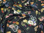 Lady McElroy Cobra Corsage  Soft Crepe Jersey Dress Fabric  Multi