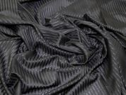 Lady McElroy Shadow Ritz Cotton & Silk Voile Dress Fabric  Black
