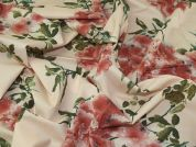 Lady McElroy Blossom Reflection 100% Cotton Lawn Dress Fabric  Peach
