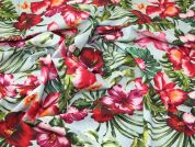 Lady McElroy Tropical Paradise 100% Cotton Lawn Dress Fabric  Multi