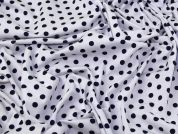 Lady McElroy Marine Polka Spot Sretch Jersey Knit Dress Fabric  Navy & White