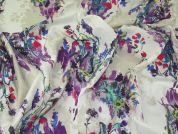 Lady McElroy Conceptual Art Print Cotton & Silk Voile Dress Fabric  Multicoloured