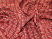Lady McElroy Highland Tweed Coating Fabric  Raspberry