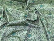 Lady McElroy Stretch Cotton Sateen Fabric  Green