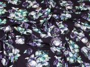 Lady McElroy Viscose Jersey Knit Fabric  Deep Violet