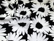 Lady McElroy Linen Viscose Fabric  Black & White