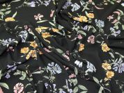 Lady McElroy Pebble Crepe Fabric  Black