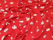 Lady McElroy Double Georgette Fabric  Red