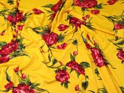 Lady McElroy Slinky Jersey Knit Fabric  Pink & Yellow