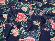Lady McElroy Viscose Crepe Fabric  Navy Blue