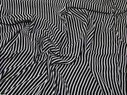 Lady McElroy Viscose Crepe Fabric  Black & White
