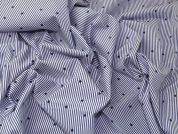 Lady McElroy Cotton Shirting Fabric  Blue & White