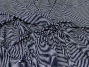 Lady McElroy Viscose Jersey Knit Fabric  Navy Blue