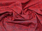 Lady McElroy Stretch Cotton Sateen Fabric  Red & Navy