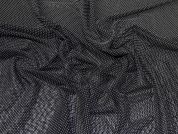 Lady McElroy Spotty Stretch Mesh Fabric  Black
