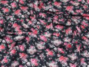 Lady McElroy Floral Jersey Knit Fabric  Pink