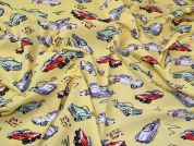 Lady McElroy Cotton Poplin Fabric  Yellow