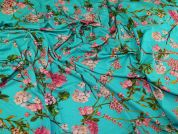Lady McElroy Viscose Jersey Knit Fabric  Turquoise