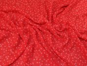Lady McElroy Silk Chiffon Fabric  Red