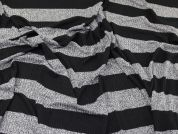 Lady McElroy Stripe Rib Jersey Knit Fabric  Black & Grey