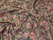 Lady McElroy Floral Printed Sherpa Fabric  Multicoloured