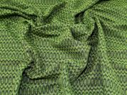 Lady McElroy Reversible Jacquard Coating Fabric  Green