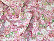 Lady McElroy Cotton Poplin Fabric  Pink