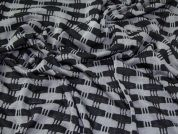 Lady McElroy Loose Jersey Knit Fabric  Black & Grey