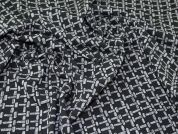Lady McElroy Textured Jersey Knit Fabric  Black & Grey