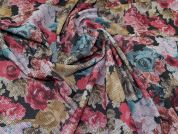 Lady McElroy Textured Jersey Knit Fabric  Multicoloured
