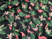 Lady McElroy Cotton Poplin Fabric  Pink on Black