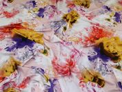 Lady McElroy Viscose Jersey Knit Fabric  Multicoloured